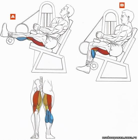 как убрать жир на коленях сбоку видео